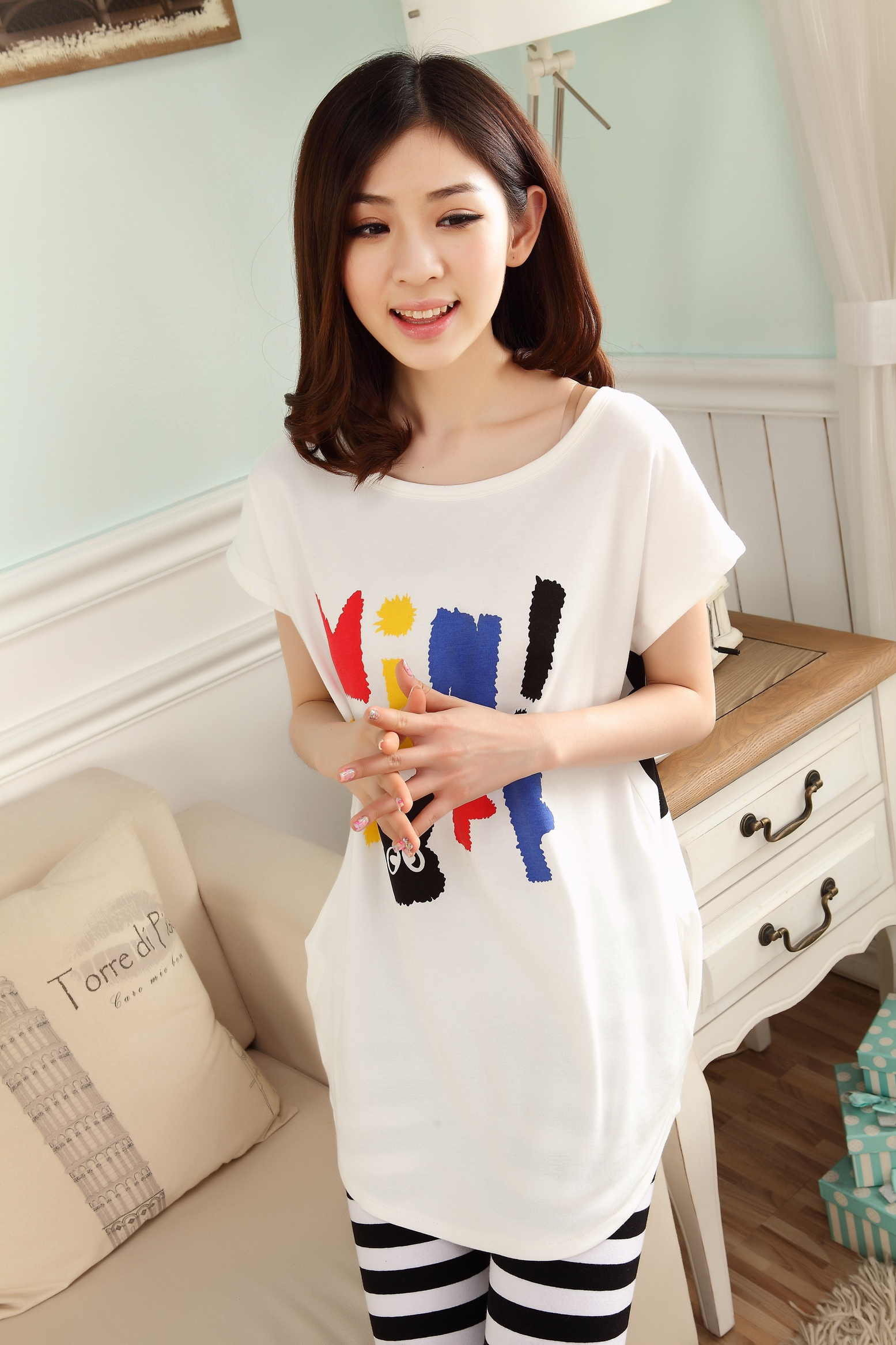 夏季韩版小清新家居服套装