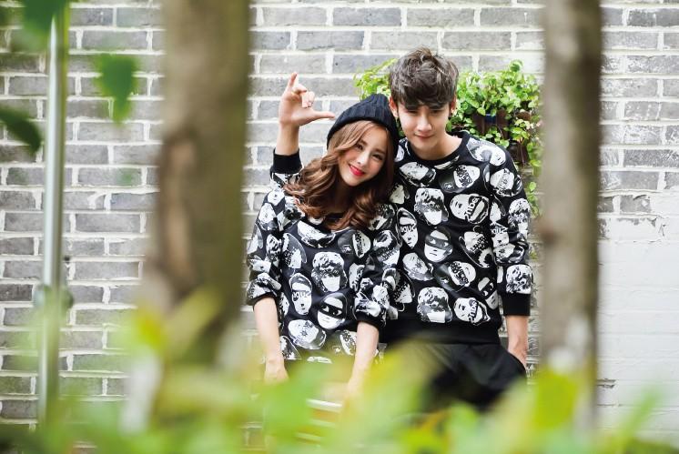 个性头像韩版时尚情侣卫衣