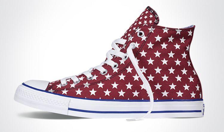 匡威同款 美国国旗星星帆布鞋