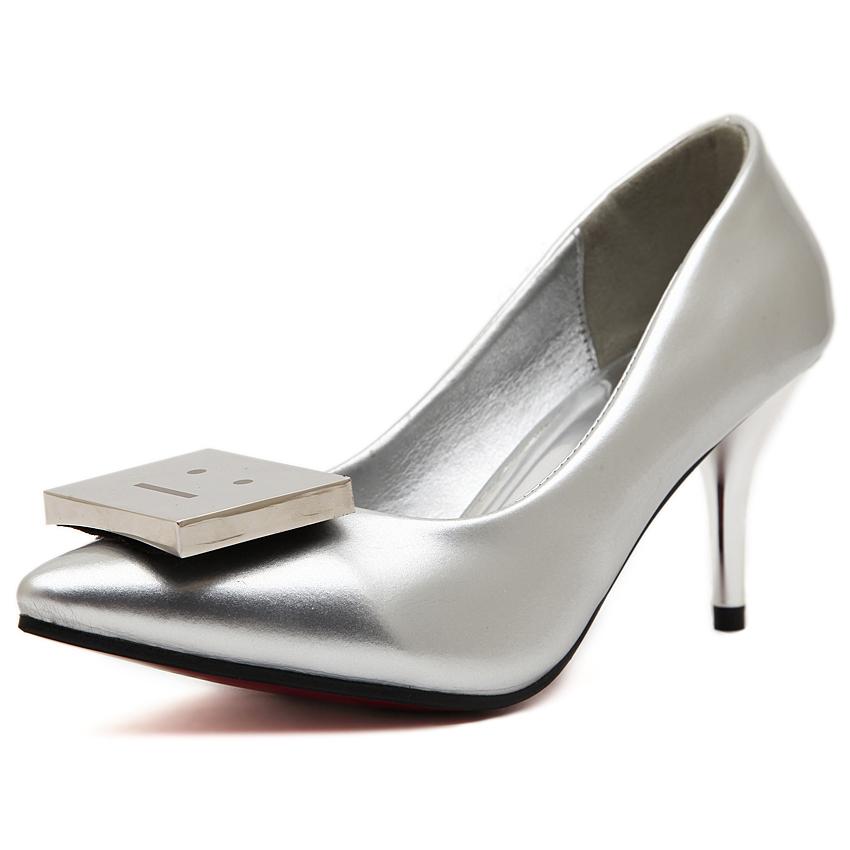 欧美时尚笑脸高跟鞋