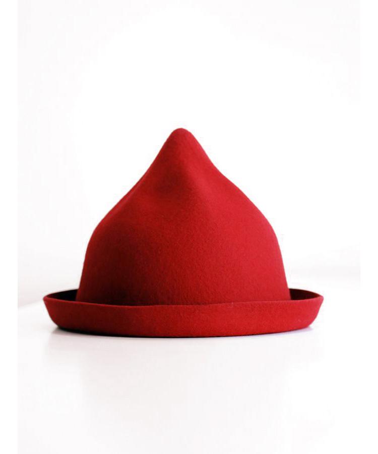 韩版小清新尖尖顶羊毛帽子