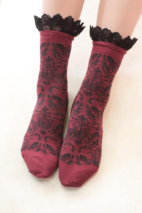 花边袜,复古,袜子,短袜,可爱袜子,森系袜子