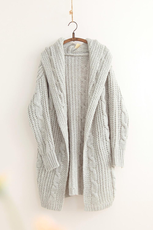 开身长款毛衣