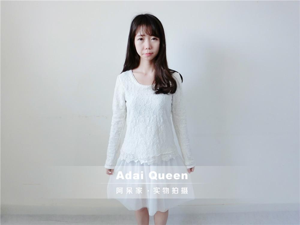 秋季甜美长袖连衣裙