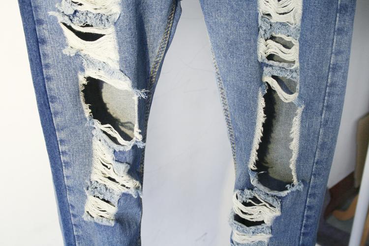 大破洞牛仔裤-来自蘑菇街优店