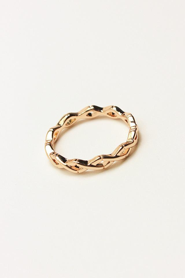 韩国简约时尚交叉花纹戒指