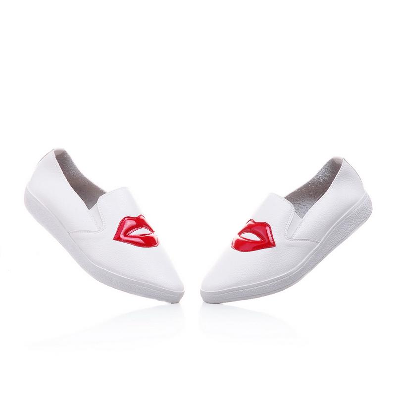 红嘴可爱小白鞋-来自蘑菇街优店