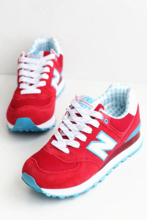 厚底帆船红色n字鞋