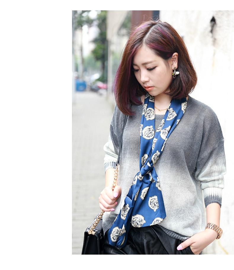 韩国新款长条形装饰丝巾
