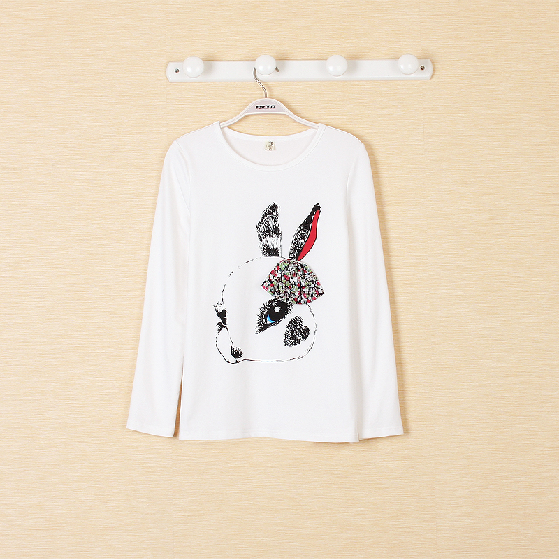 兔子休闲t恤