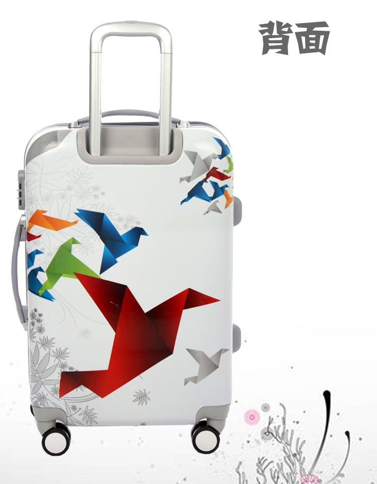 千纸鹤印花旅行拉杆箱