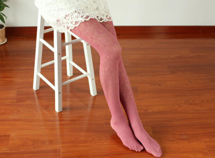 复古蕾丝袜