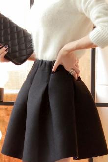 初秋新品高腰蓬蓬裙