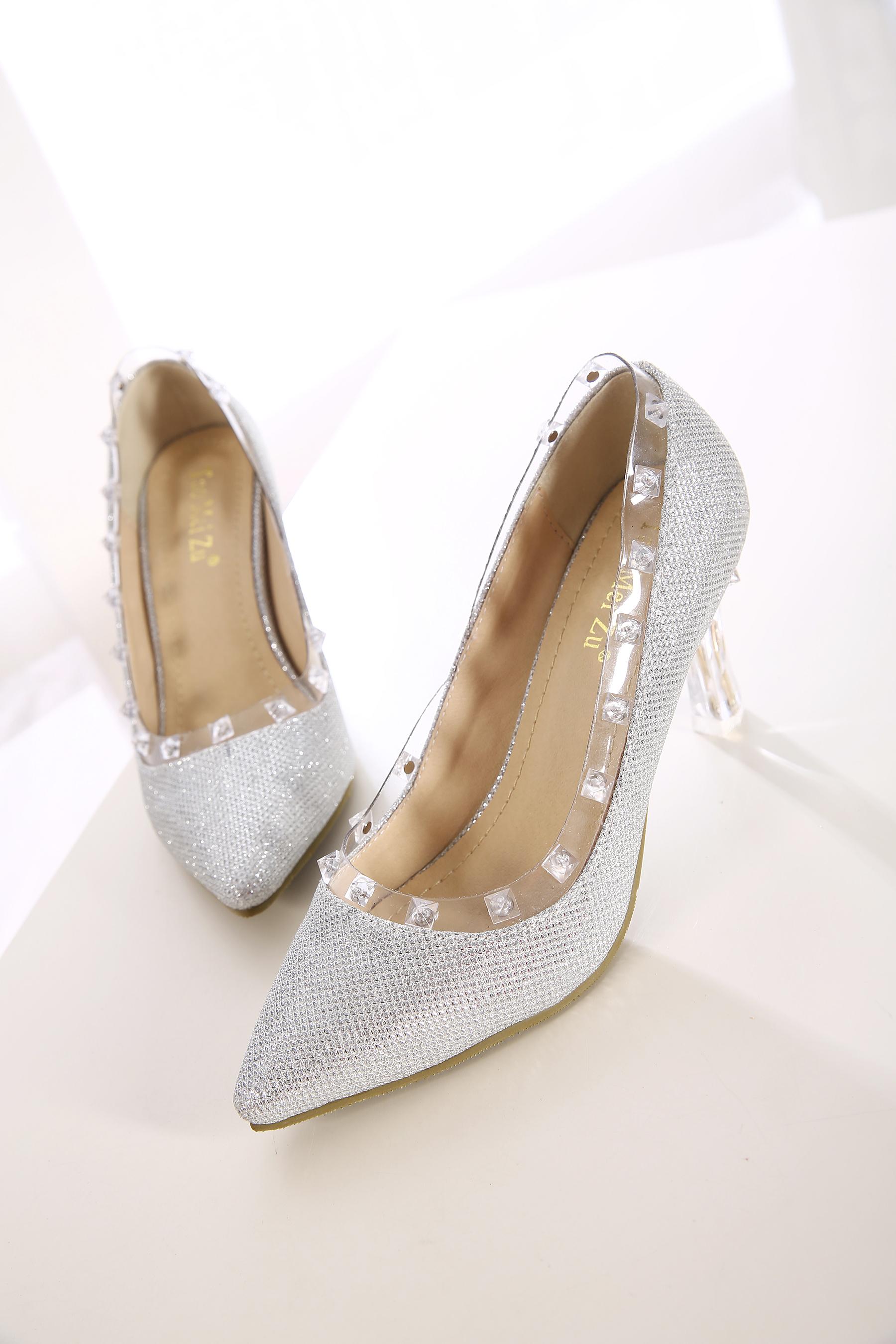 奢华水钻水晶高跟鞋
