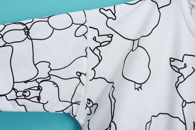 韩版手绘贵宾犬富贵狗图案卫衣
