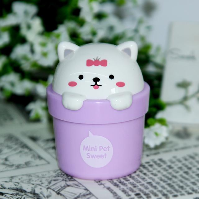 可爱女孩迷你宠物护手霜紫色狗