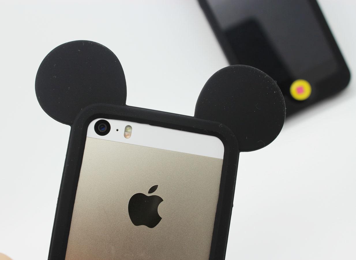潮款米奇黑色苹果手机边框套