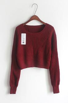 韩国时尚俏皮迷你毛衣