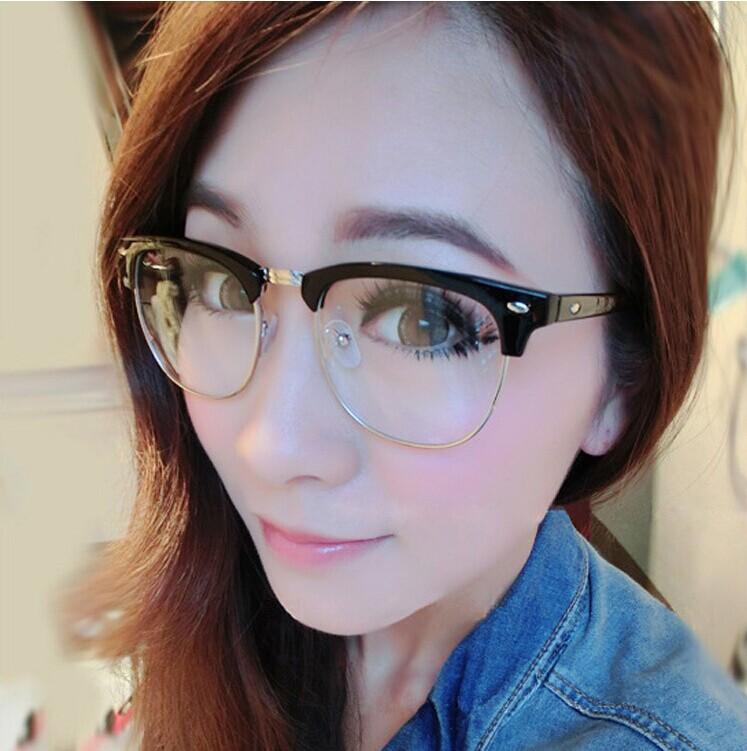 韩版文艺范男女同款平光眼镜