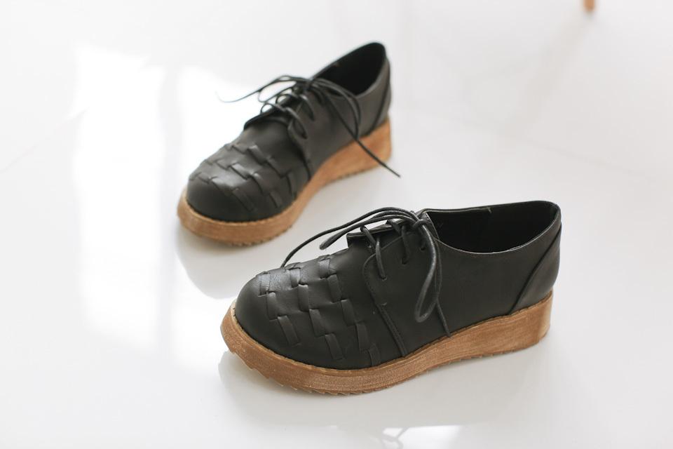 森林系编织低帮休闲鞋