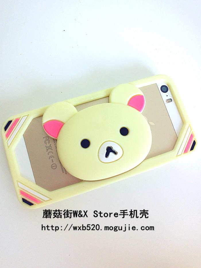 轻松熊粉在哪里!  懒人必备的手机边框支架二合一 超方便  呆萌可爱