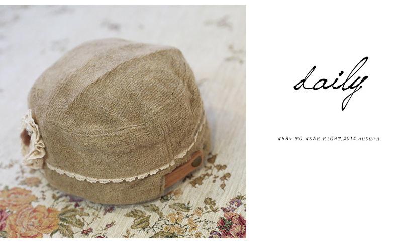 时尚休闲花朵淑女珍珠甜美帽子