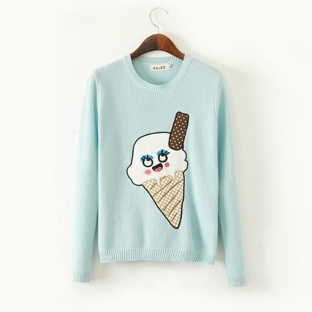 卡通冰淇淋毛衣