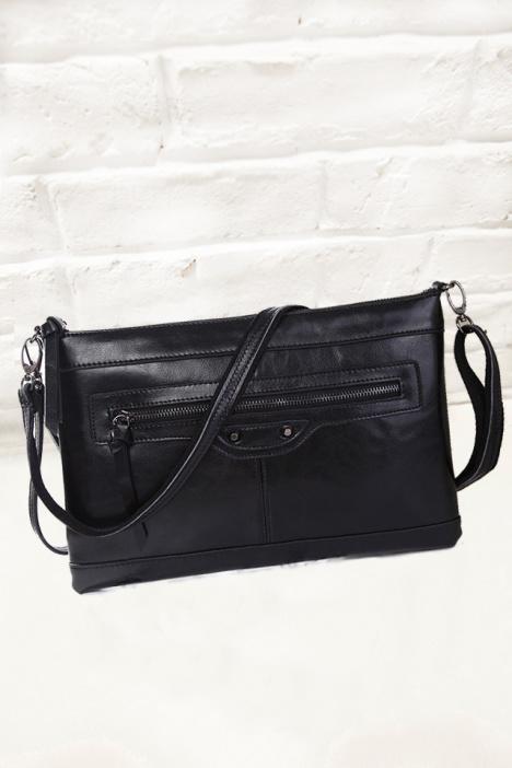 欧美,新款,休闲,包包,复古,黑色,手拿包,单肩包,斜挎包,机车,两用包