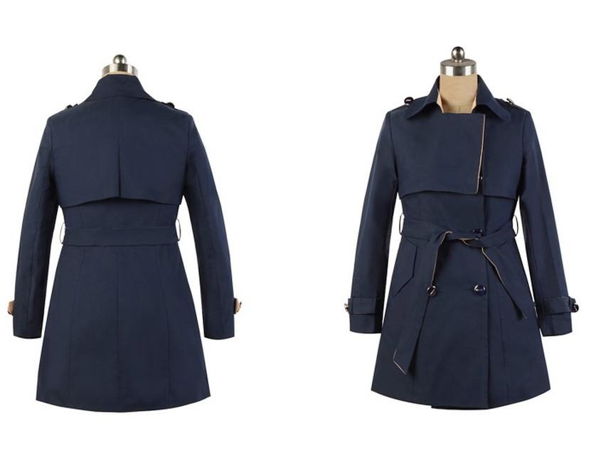 韩版女士系带修身时尚风衣