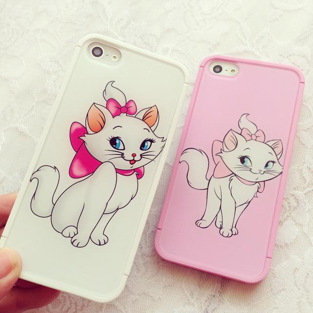可爱猫咪亚克力拼接苹果手机壳