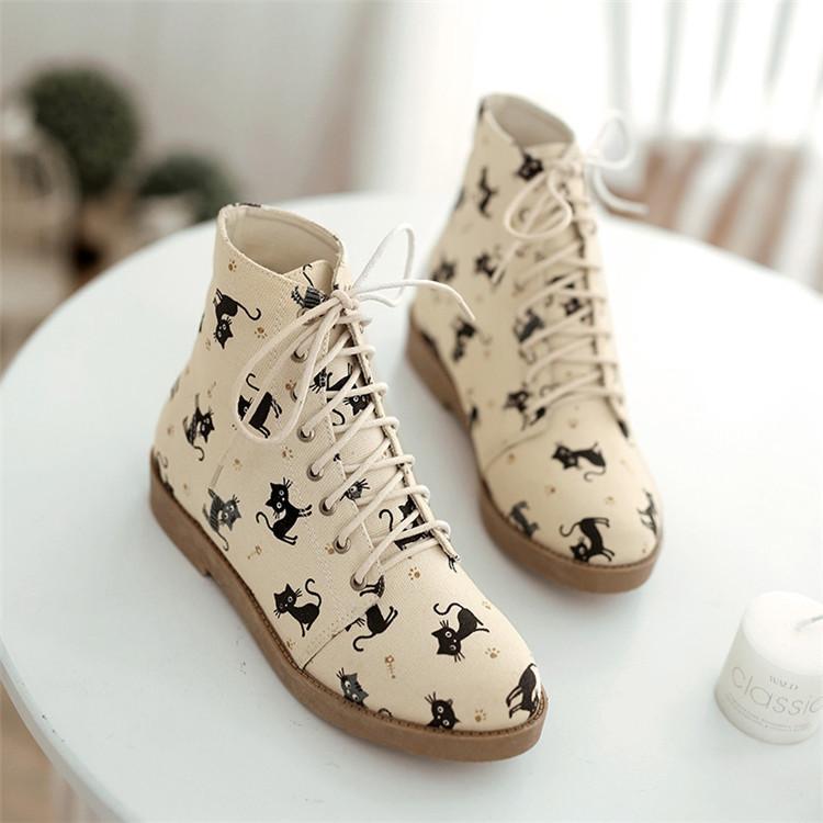 打棉鞋花样图纸猫