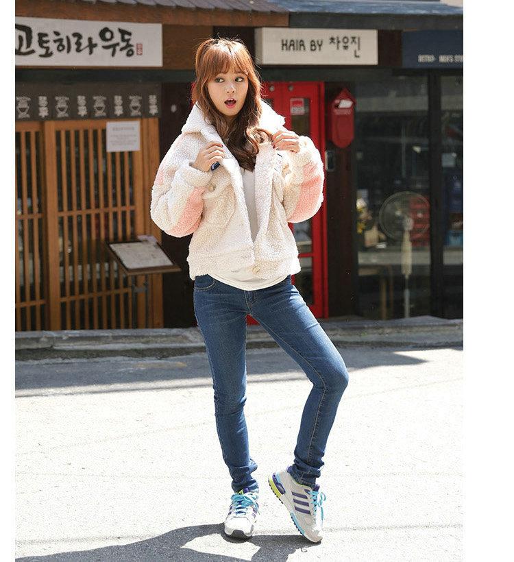 可爱毛绒外套-来自蘑菇街优店