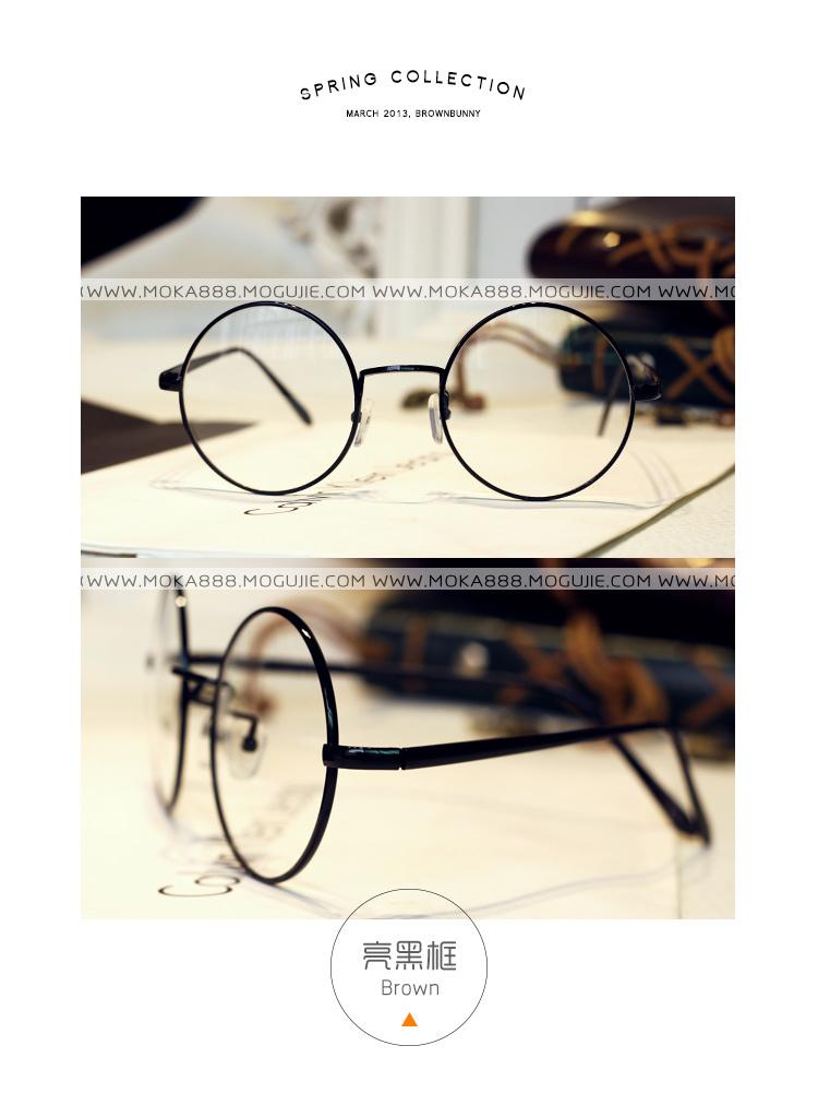 复古圆框眼镜