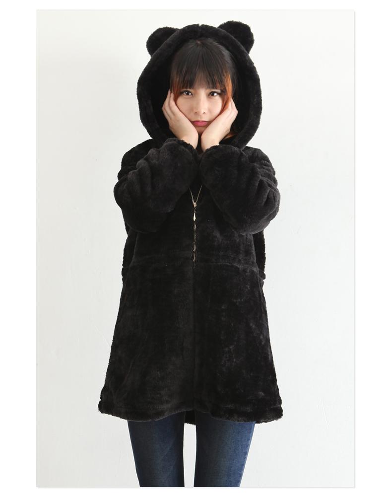 熊耳朵可爱毛毛外套