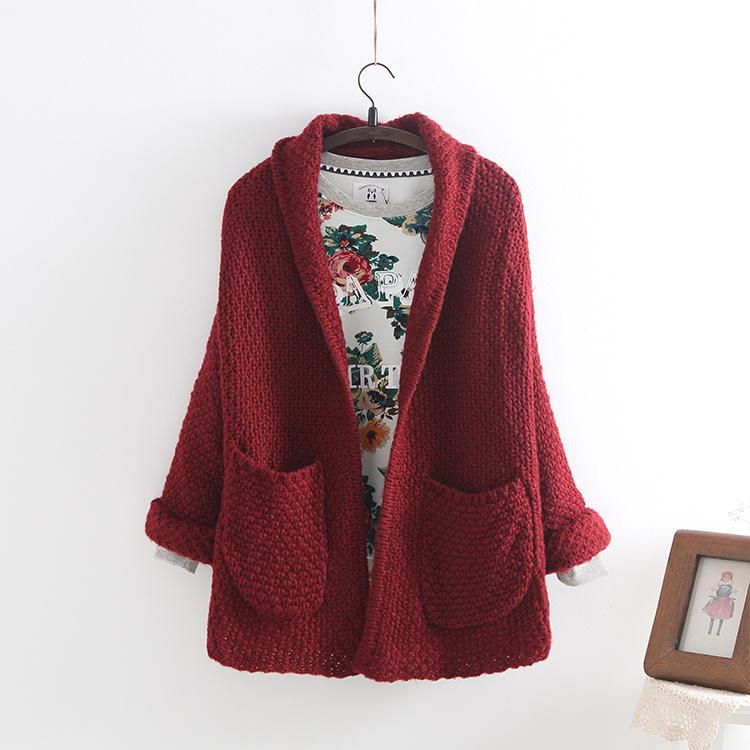 韩版甜美针织外套