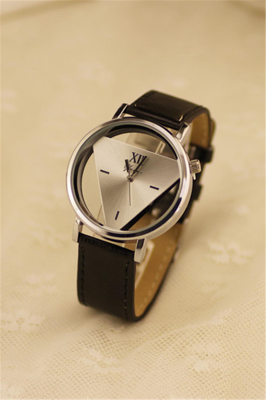 原宿时尚三角形双面镂空手表