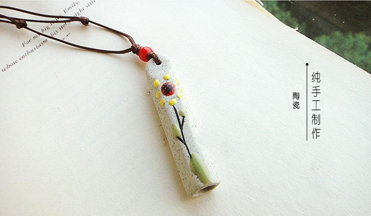 手绘花朵项链
