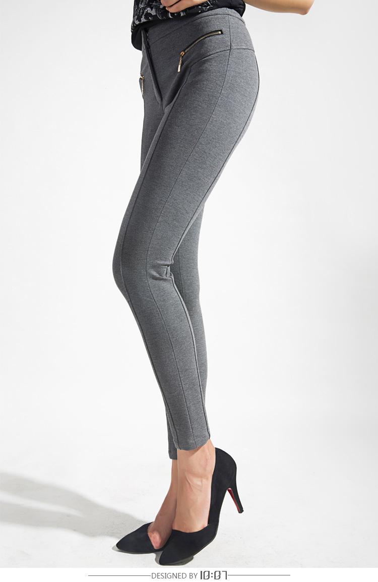 针织紧腿铅笔裤图片