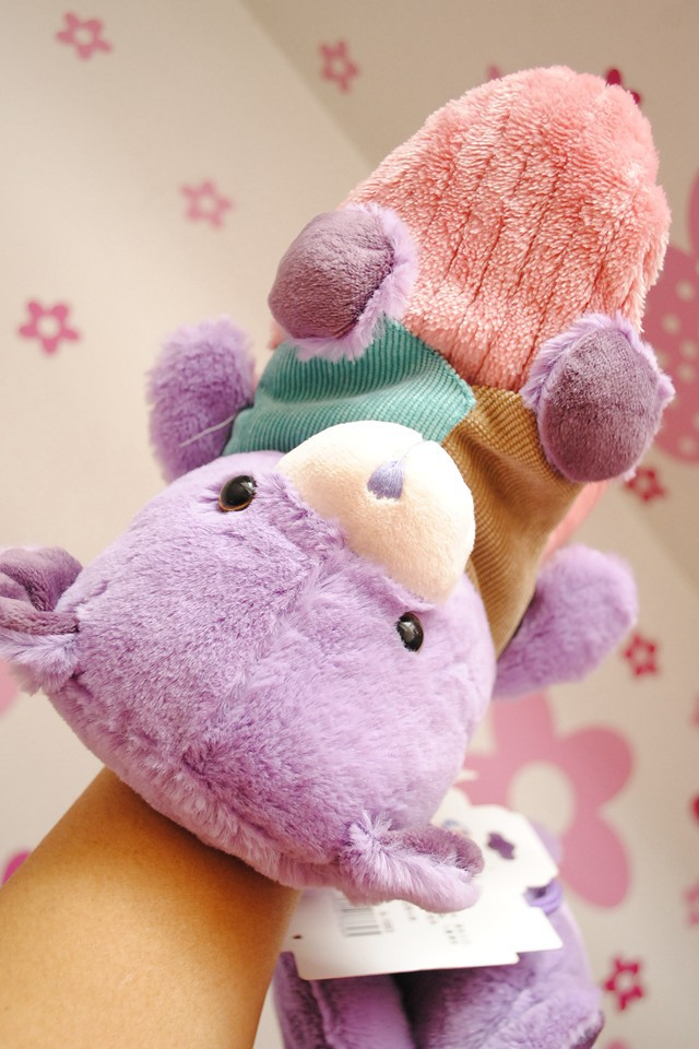 薰衣草小动物系列毛绒手套