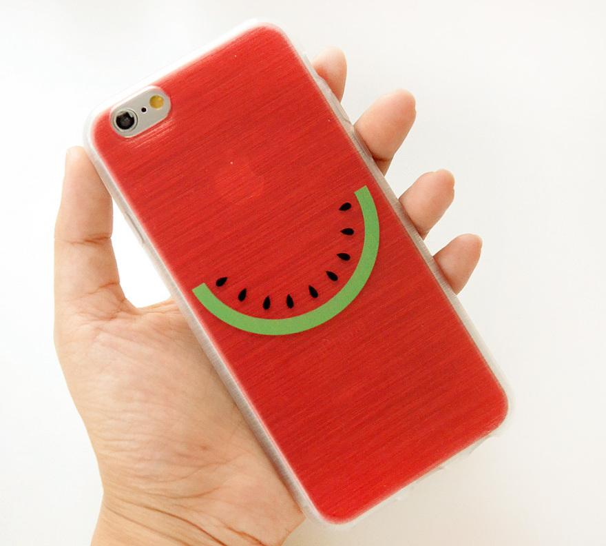 大西瓜全包软硅胶iphone手机壳