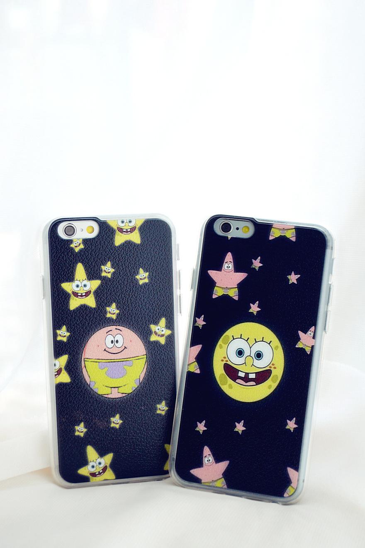 iphone全包软边海绵宝宝手机壳
