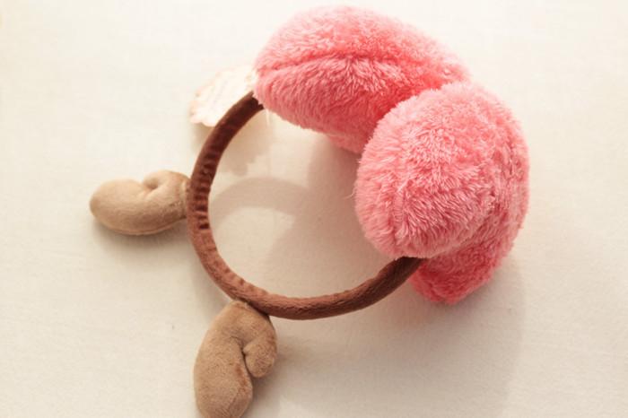 冬季保暖可爱鹿角耳罩
