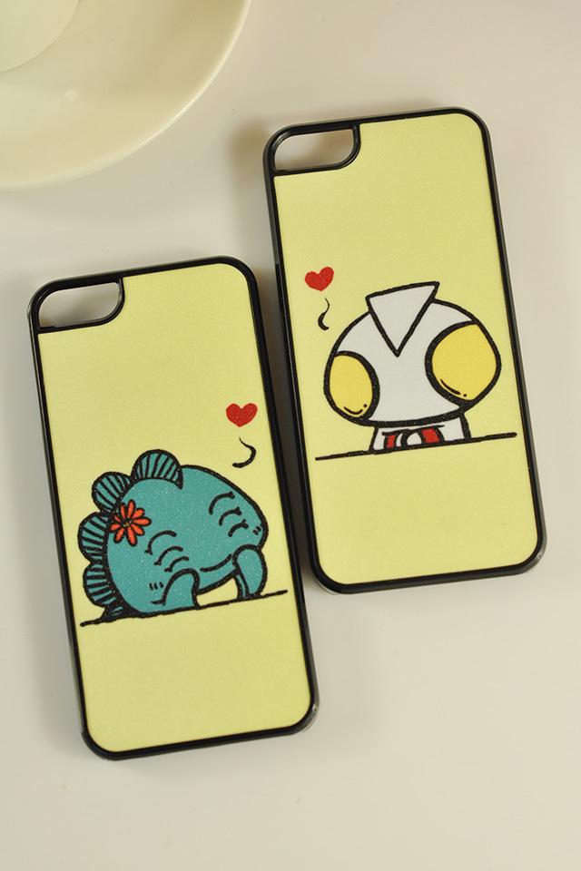 可爱情侣手机壳