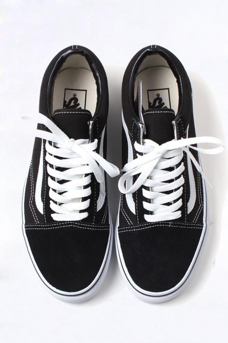 万斯gd权志龙同款黑色低帮板鞋