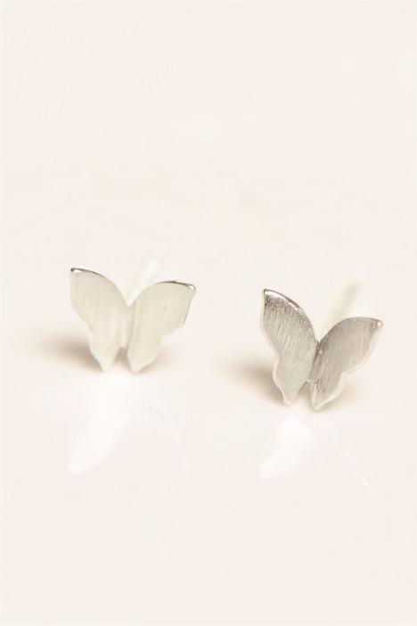 素银耳钉,蝴蝶翅膀,复古,唯美,小清新耳钉,迷你韩国耳钉,新款,韩版