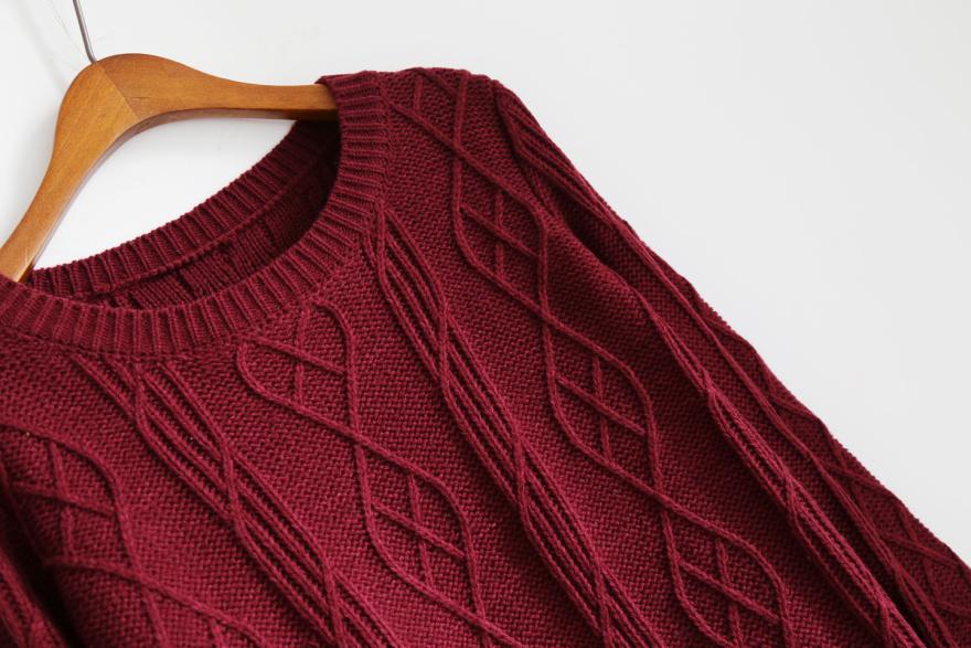 棒针菱形图案编织围巾