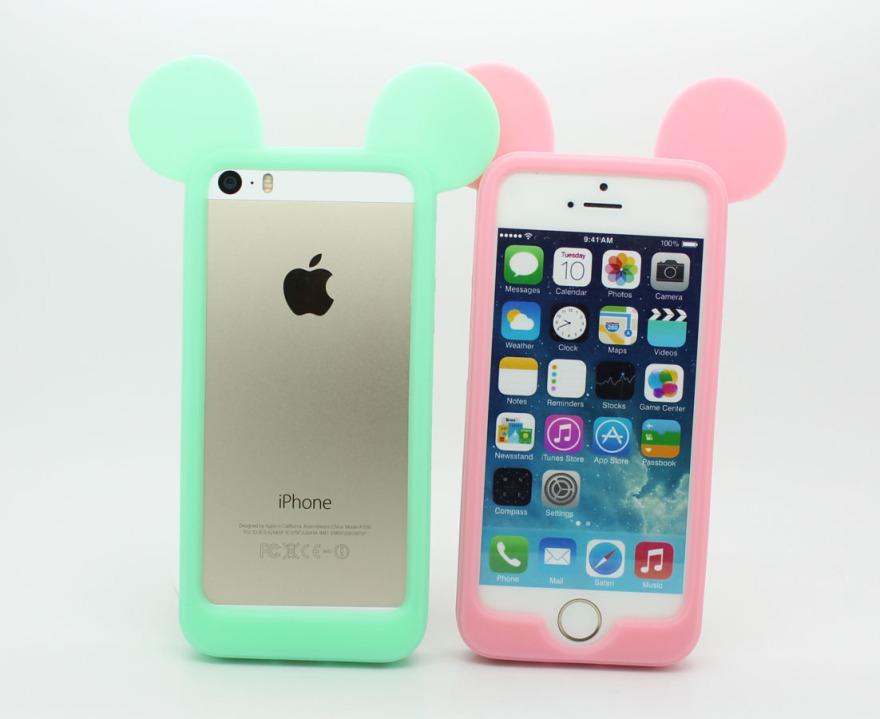 iphone6/5s/4s糖果色米奇边框