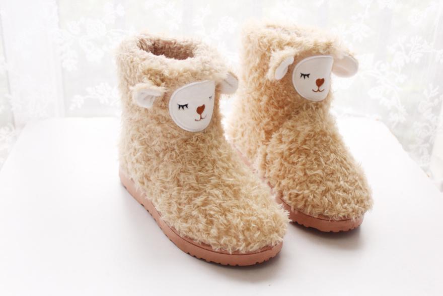 可爱小萌羊雪地靴-来自蘑菇街优店