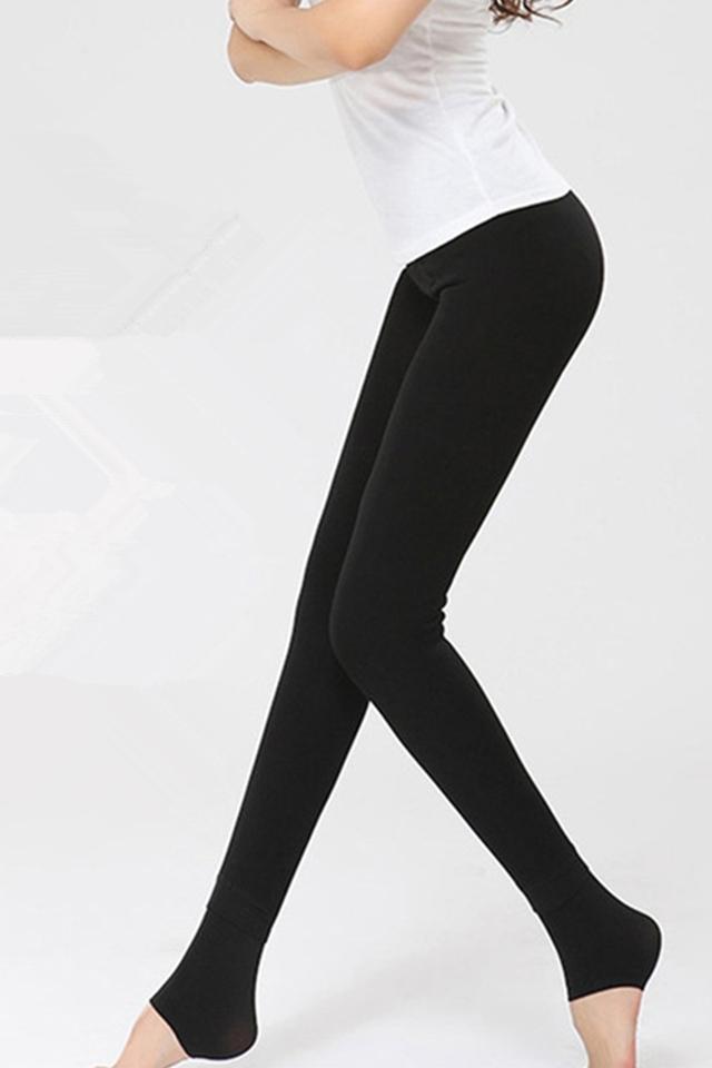 加绒加厚高腰踩脚打底裤