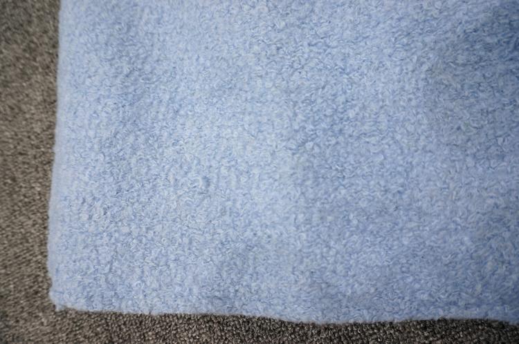韩版浅蓝色加厚毛呢外套